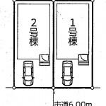 新潟市西区坂井東の新築住宅の土地の区画図