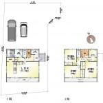 新潟市南区西白根の新築住宅の間取り図