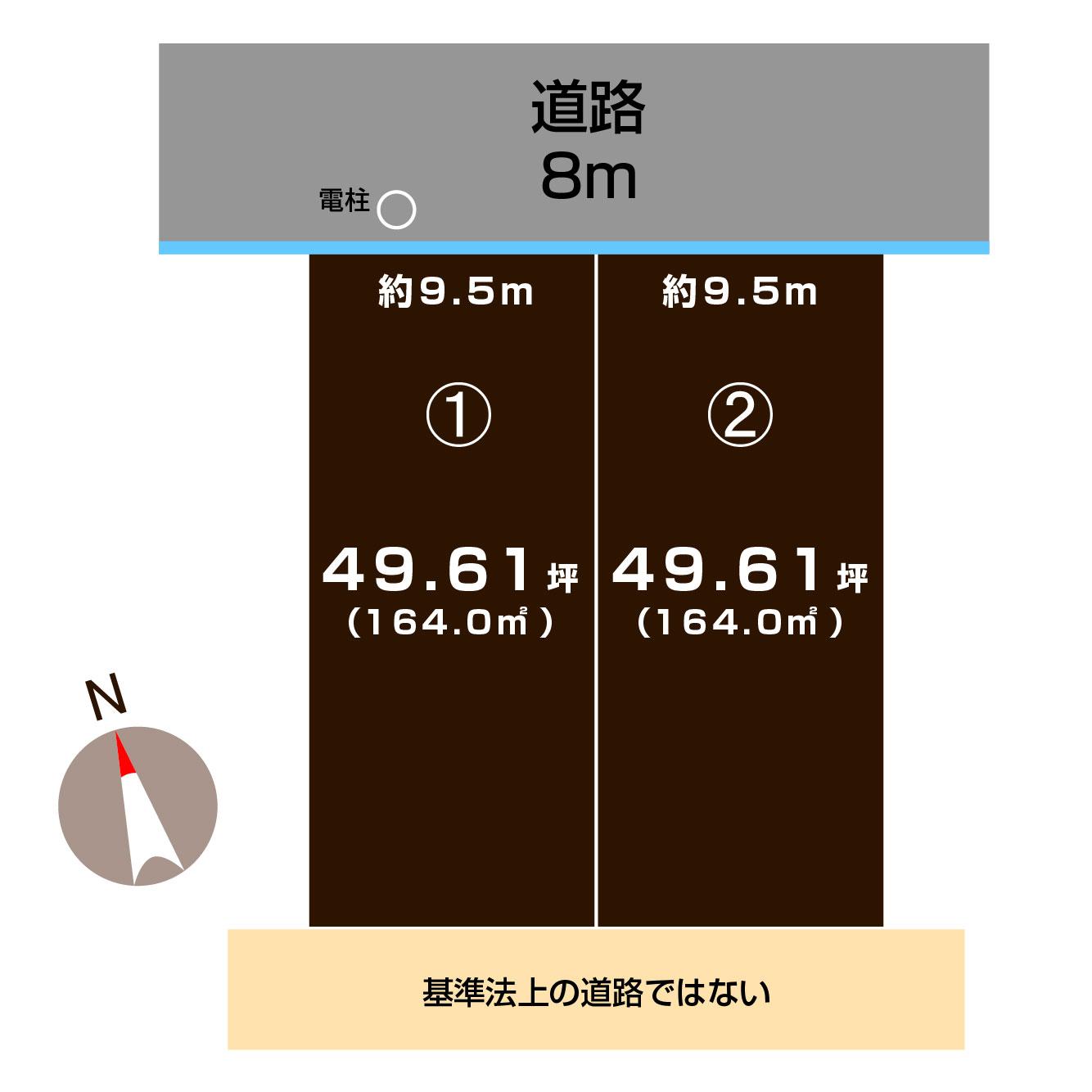 長岡市関原南の土地の敷地図(敷地図)
