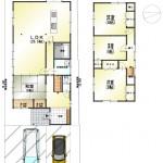 新潟市西区善久の中古住宅の間取図