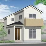 新潟市中央区長潟の新築住宅のの外観完成予定パース