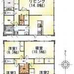 燕市上児木の中古住宅の間取図