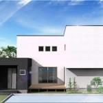 新潟市東区大形本町の建物プラン例の外観パース