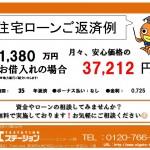 新潟市秋葉区中野の中古住宅の住宅ローン返済例
