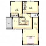 区画59-2の建物プラン例の2F間取図