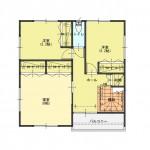 燕市杣木の土地の建物プラン例の2階間取図(区画6)