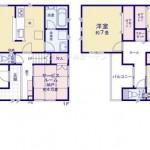 新潟市東区大山の新築住宅の間取り図