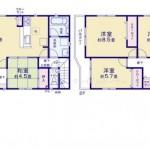 新潟市東区河渡新町の新築住宅の間取図