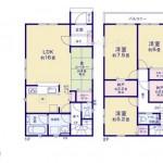 北蒲原郡聖籠町次第浜の新築住宅の間取図
