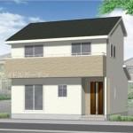 新潟市北区松浜新町の新築住宅の外観完成予定パース