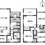 新潟市北区川西の新築住宅の間取図