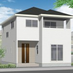 新潟市北区川西の新築住宅の外観完成予定パース
