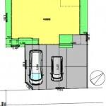 新潟市東区大形本町の建物プラン例の配置図