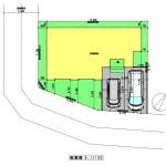 新潟市中央区関屋恵町の建物プラン例の配置図