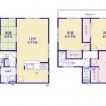 新潟市北区松浜新町の新築住宅の間取り図