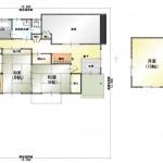 新潟市秋葉区中野の中古住宅の間取図