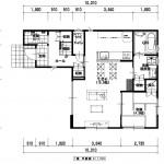 新潟市中央区関屋恵町の建物プラン例の1階間取り図