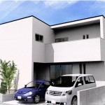 新潟市中央区関屋恵町の建物プラン例の外観パース