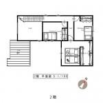 新潟市東区大形本町の建物プラン例の2階間取り図