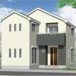 新潟市東区大山の新築住宅の外観完成予定パース