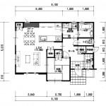 新潟市東区大形本町の建物プラン例の1階間取り図