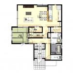 区画59-2の建物プラン例の1F間取図