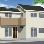 新潟市東区河渡新町の新築住宅の外観完成予定パース