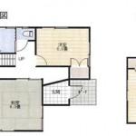 新潟市北区新崎の中古住宅の間取り図
