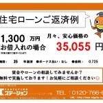 新潟市中央区近江の中古マンションの住宅ローン返済例