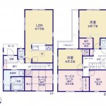 新潟市中央区女池上山の新築住宅の間取り図