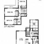 新潟市東区山木戸の新築住宅の間取図