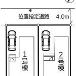 新潟市中央区女池上山の新築住宅の区画図