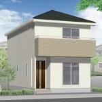新潟市江南区東船場の新築住宅の外観完成予定パース