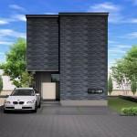 糸魚川市東寺町の建物プラン例の外観パース(外観)
