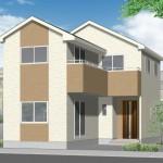 新潟市中央区女池上山の新築住宅の外観完成予定パース