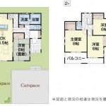 三条市林町の新築住宅の間取図(6号棟)
