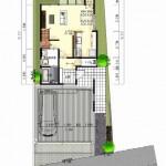 新潟市西区寺尾の土地の建築プラン例の配置図