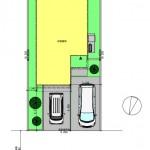 新発田市御幸町の土地の建物プラン例(配置図)