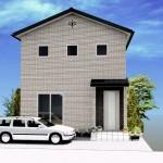 新潟市東区中山の土地の建築プラン例(外観パース)