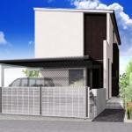 新潟市西区寺尾の土地の建築プラン例の外観パース