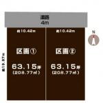 新潟市秋葉区吉岡町の土地の敷地図