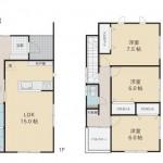新潟市東区上木戸の新築住宅の間取り図