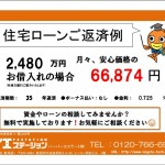 新潟市江南区東船場の新築住宅の住宅ローン返済プラン表