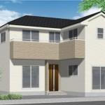 新潟市東区山木戸の新築住宅のの外観完成予定パース