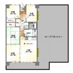 新潟市中央区近江の中古マンションの間取り図