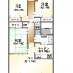 新潟市中央区米山の中古マンションの間取図