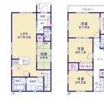 新潟市江南区東船場の新築住宅の間取図