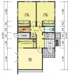 新発田市御幸町の土地の建物プラン例(1階平面図)