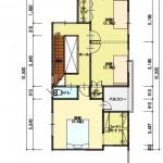 新潟市西区寺尾の土地の建築プラン例の2階間取図