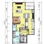 新発田市御幸町の土地の建物プラン例(2階平面図)